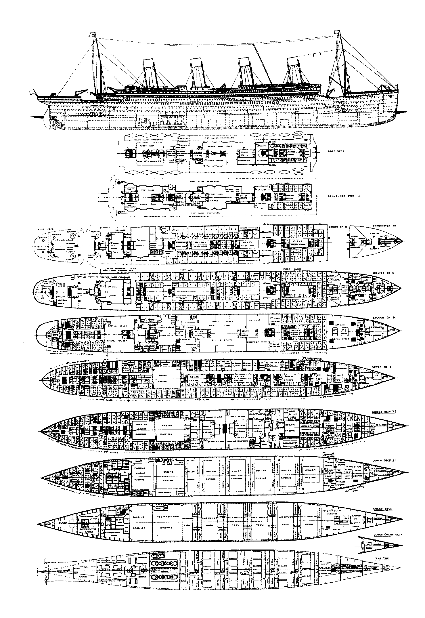 Titanic the ship s plans joeccombs2nd for Blueprint number