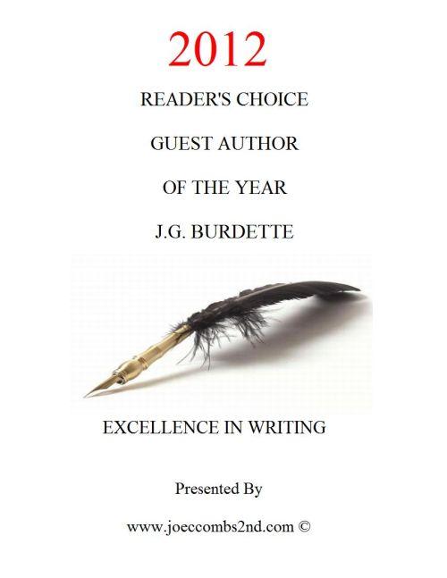 Award Certificate. 2012 Reader's Choice Award.
