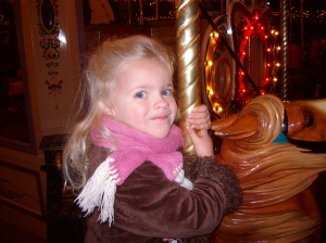 Elizabeth on a merry-go-round 2008