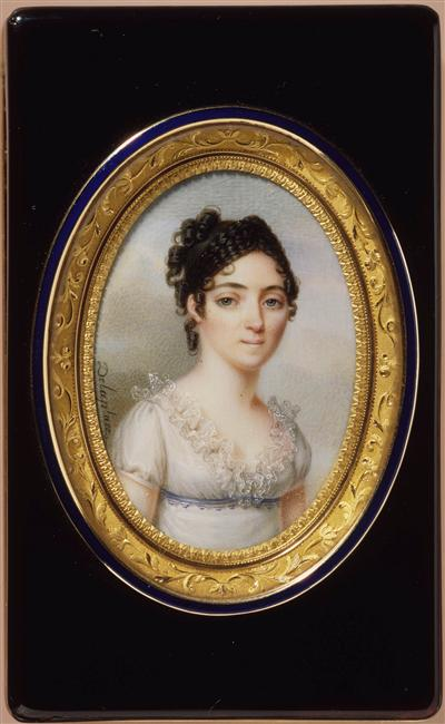 Adele Marie Jeanne Lapeyriere age 20 On the occasion of her marriage to Jean Baptiste Bessieres 26 October 1801