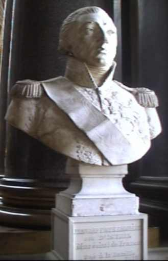 The Bust of Jean Baptiste Bessieres, Duke of Istria, Marshall of France. This bust is just inside the hall of Heros in Paris to the right of the entrance.