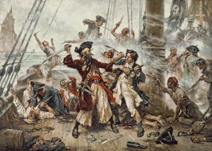"""Capture-of-Blackbeard"" by Jean Leon Gerome Ferris -  Licensed under Public domain via Wikimedia Commons -"