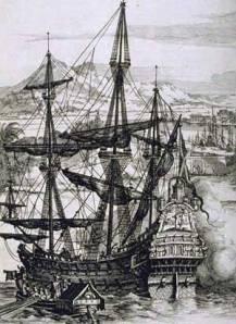 """Spanish Galleon"". Licensed under Public domain via Wikimedia Commons -"