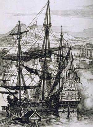 """Spanish Galleon"". Licensed under Public domain via Wikimedia Commons -"