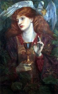 """Holygrail"" by Dante Gabriel Rossetti - Unknown. Licensed under Public domain via Wikimedia Commons -"