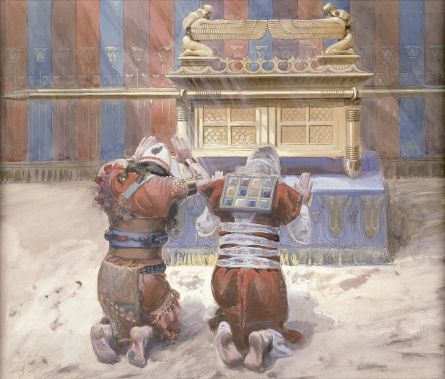 Moses and Joshua bowing before the Ark, painting by James Jacques Joseph Tissot, c. 1900