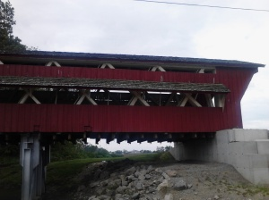 Exterior of the Culbertson Covered Bridge.
