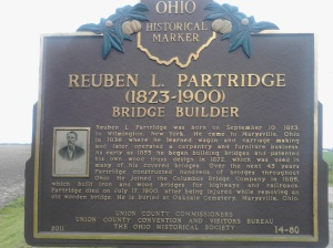 Historical marker for the Culbertson Covered Bridge.