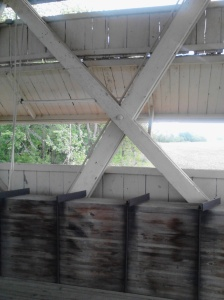 Interior of the Culbertson Covered Bridge.