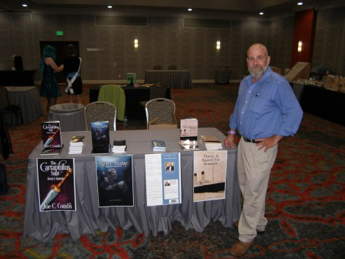 My booth at the Wichita Novel Experience 2015