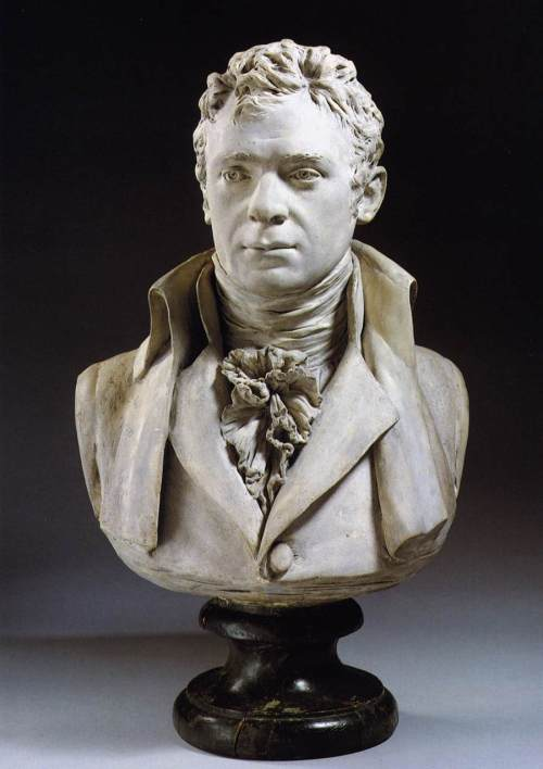 A bust of Robert Fulton by Jean-Antoine Houdon, 1803.