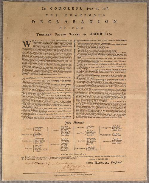 Goddard Broadside printed January 1777.