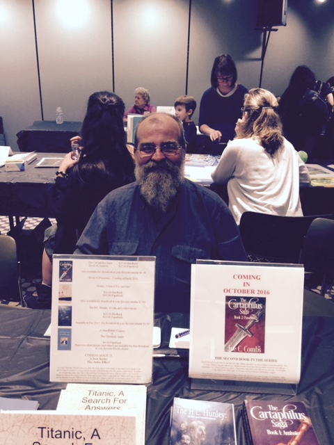 Joe at the Wichita Writers Day at the Wichita Library 3 September 2016.